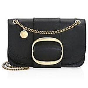 See by Chloé Hopper Leather Shoulder Bag Black